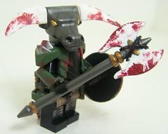 Minotaur Possessed (Silenced_pp7) Tags: brick lava paint lego hell creation demon warrior custom spawn build vignette possessed minotaur moc brickwarriors