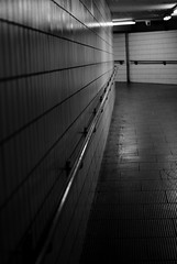 Subway (shabbagaz) Tags: city uk november autumn england urban white black west bus public monochrome station grim britain sony centre united great north transport kingdom lancashire shit preston monstrosity alpha a330 brutalist eyesore shabbagaz