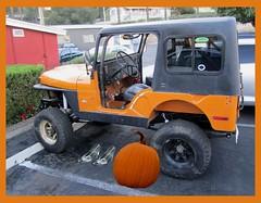 Pumpkin chariot & glass slippers (goldtrout) Tags: food orange halloween car pie pumpkin jeep chariot glassslippers luna16