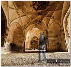 time traveler.. (PNike (Prashanth Naik..back after ages)) Tags: longexposure india building history architecture ancient nikon asia fort structure historic kings ghosts hyderabad golconda selfie sigma1020mm selectivecoloring d7000 pnike