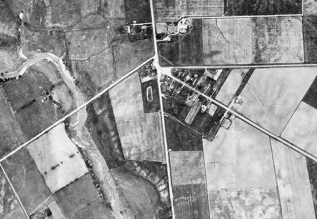 1947 aerial photo of Claireville
