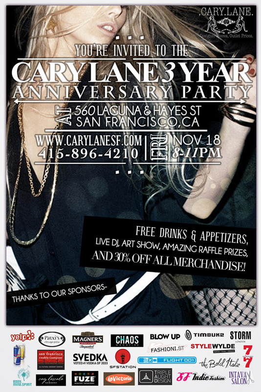 cary lane 3 year anniversary