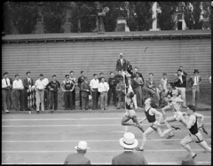 Bob Wheeler of Springfield wins 100 yard dash by Boston Public Library