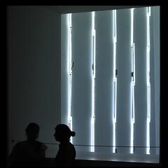 MoMA, NY (Dreamer7112) Tags: nyc newyorkcity people ny newyork silhouette museum square nikon neon squares manhattan silhouettes moma museumofmodernart midtown atrium momany d300 nikond300 humaningeometry