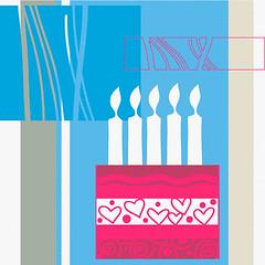 42-20917690 (mohamed abdelatty) Tags: pink blue food cake collage illustration one candle nobody celebration birthdaycake surprise sweets amazement celebrating oneobject