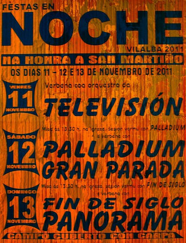 Vilalba 2012 - Festas do San Martiño en Noche - cartel