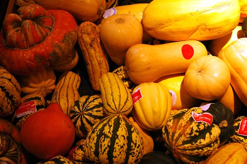 Yellow and orange autumn squash, Fred Meyers, Salmon Bay, Seattle, Washington, USA by Wonderlane