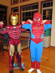 Our heroes - Ironman and Spiderman!