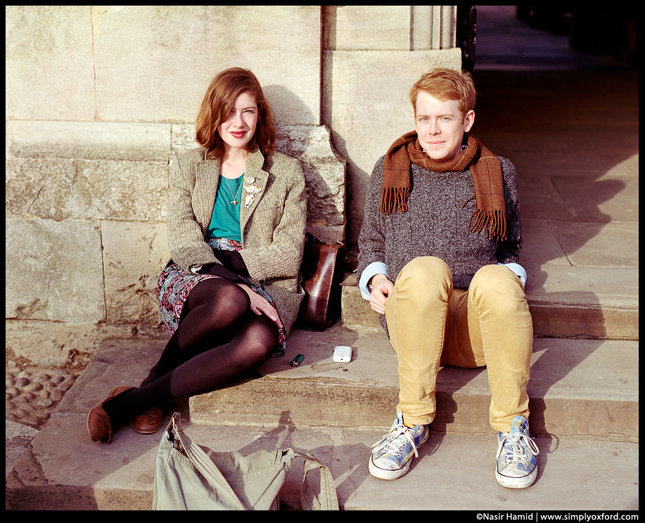 Oxford students relaxing in the sun