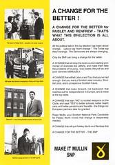 SNP General Election Leaflet, 1990 (Scottish Political Archive) Tags: party scotland election general scottish national publicity paisley campaign 1990 mullin snp