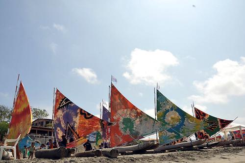 Coastal Ecuador Playas de Villamil Ecuadorian s BALSASraft parade