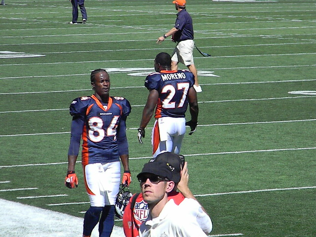 Brandon Lloyd and KNOWSHON MORENO