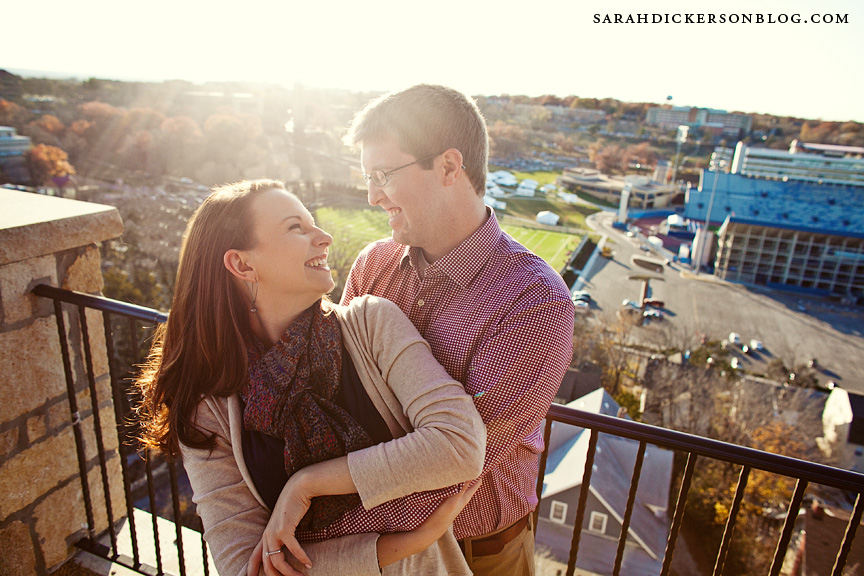 University of Kansas engagement photographers