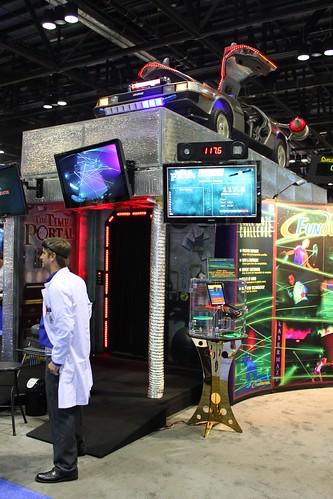 Time Portal laser maze with DeLorean