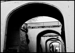 Bridges (albireo 2006) Tags: bridge wallpaper blackandwhite bw stone puente mediterranean background perspective malta pb bn ponte pont valletta blackandwhitephotos blackwhitephotos v18 valletta2018