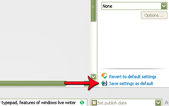 Save settings as default to avoid repeated adjustments