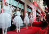 Young ballet dancers from the Irish National Youth performance of 'Snowflake' from The Nutcracker Ballet before Multi