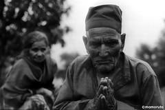A peasant and his wife (Mamoruto) Tags: trip travel nepal portrait art monochrome japan nikon couple photographer culture snap peasant