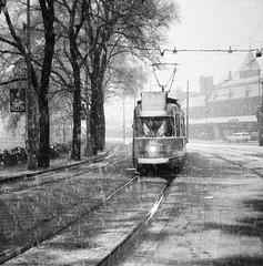 All by myself (railfan3) Tags: amsterdam amsterdams amsterdamse amsterdamtrams amsterdamsetrams tram trams streetcars trolleys winter snow snowing sneeuw lonely alleen leeg central centraal station stationsplein lijn13 682 5g grijze gelede dubbelgelede double articulated 670724 gvb gta gemeentetram stadsarchief vervoersbedrijf tramcars tramwagens 1968 black diamond scenery snowscene gvb682