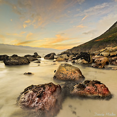More Kogel Bay (Dawie Malan) Tags: sunset bay rocks kogel vertorama d7000