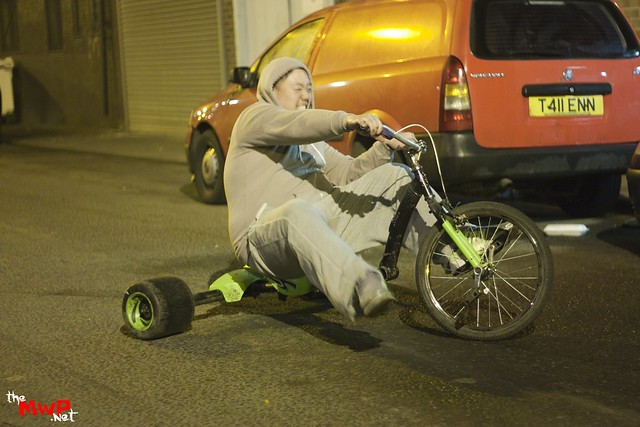 Hoho enjoying the drifting trike