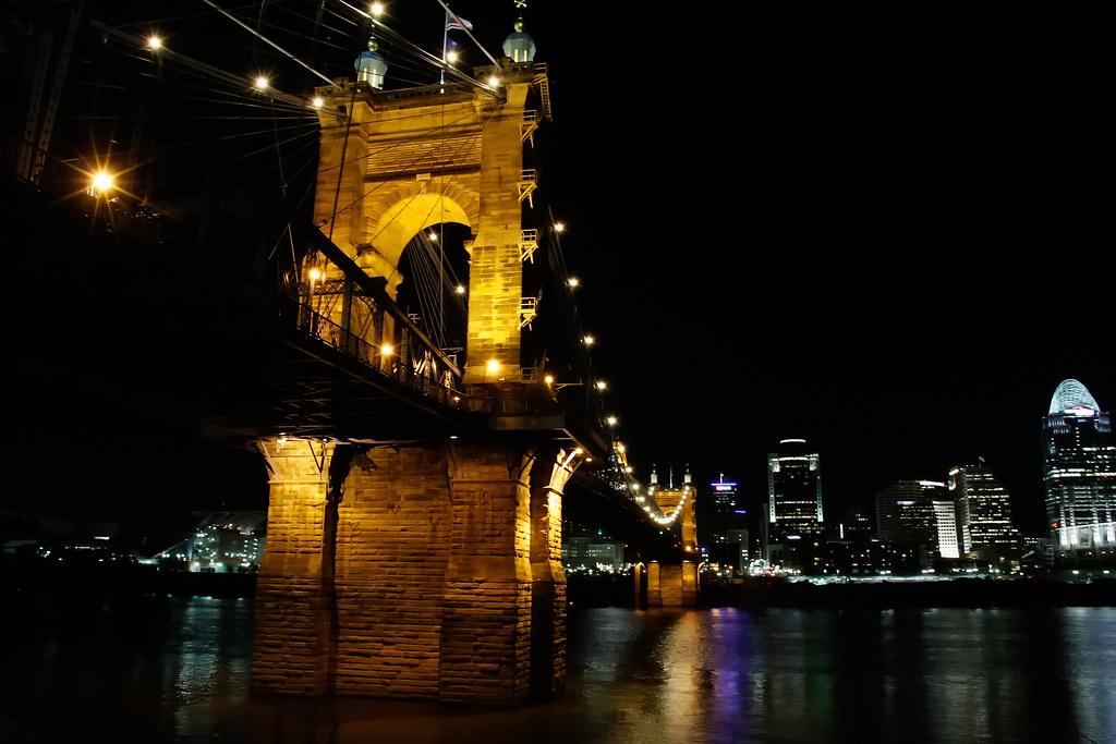 Suspension Bridge, Cincinnati, Ohio River