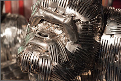 Forked Ape (wsilver) Tags: sculpture art mi silver monkey silverware gorilla michigan creative commons fork grand rapids creativecommons prize forks 2011 artprize