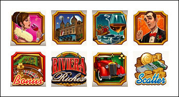 free Riviera Riches slot game symbols