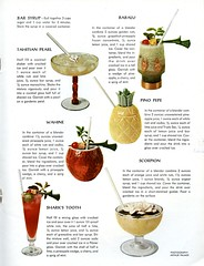 Flower Rum Song 2 1959 (genibee) Tags: bar magazine recipe ad advertisement gourmet scorpion alcohol 1950s booze rum 1959 babalu mixeddrinks wahine sharkstooth tradervic tahitianpearl barsyrup pinopepe