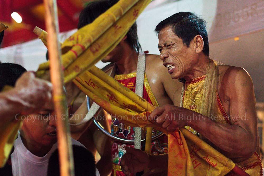 """""""God"""" @ Ban Tha Rue Shrine, Phuket Vegetarian festival 2011, Phuket, Thailand"""