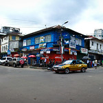 Corner of Wilberforce and Shaka Stevens in Freetown, Sierra Leone