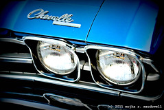 Chevelle (Mojha MacDowell) Tags: auto blue chevrolet car sedan headlights chevelle chevy transportation sportscar coupes mojha supersportautomobile