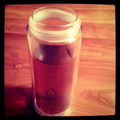 @libretea glass 'n poly with Assam black tea. #teaFTW