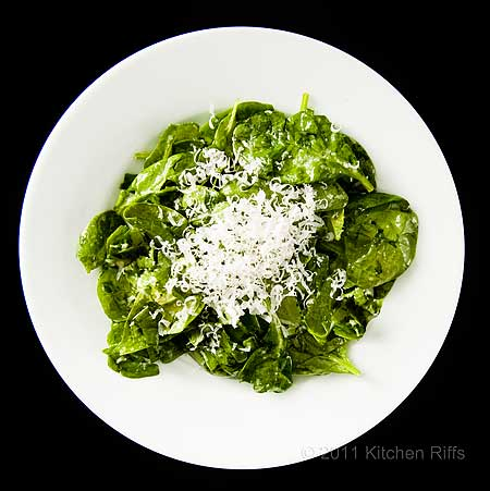 Spinach Salad with Parmesan Cheese Dressing