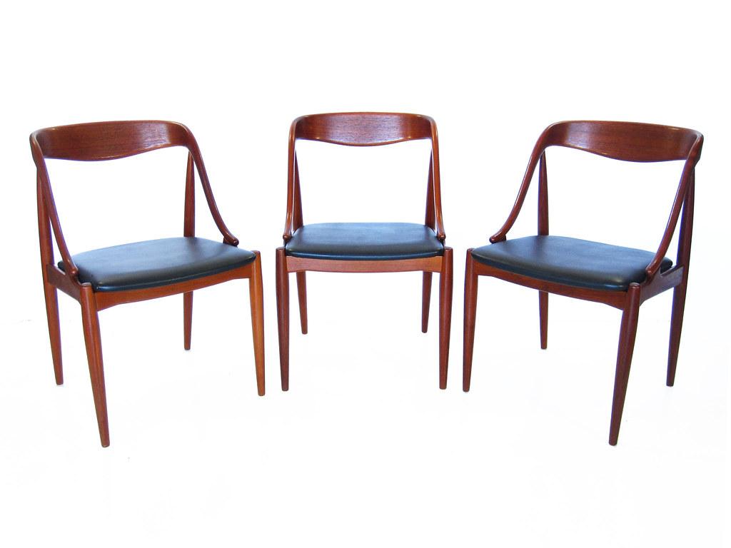 Danish Modern Teak Wood Dining Chairs