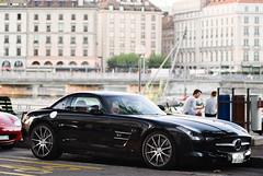 Mercedes SLS AMG (Future Photography International) Tags: horse black car mercedes benz switzerland photo hp nikon noir power suisse geneva d 8 s sl 200 mercedesbenz 28 300 af gt nikkor ge 80 genve nero f28 supercar v8 ch sls amg 80200mm 80200 80mm 200mm afd d80 worldcars