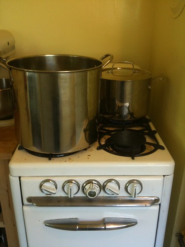 stove set up for brewing