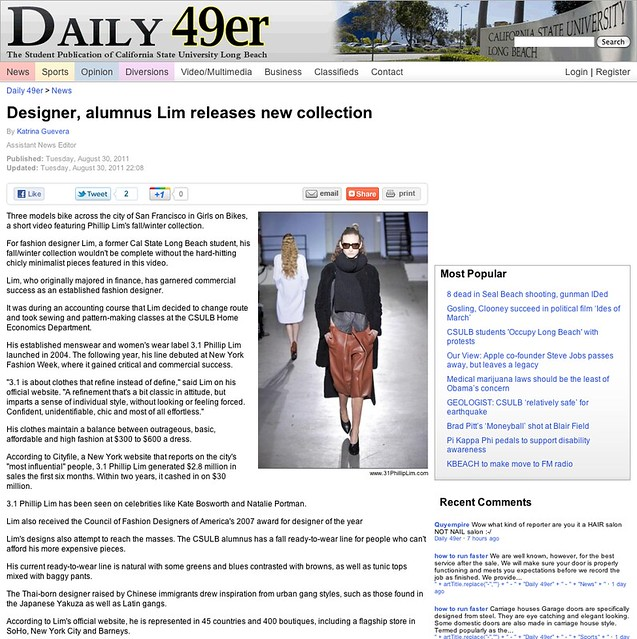 Designer, alumnus Lim releases new collection - News - Daily 49er - California State University Long Beach