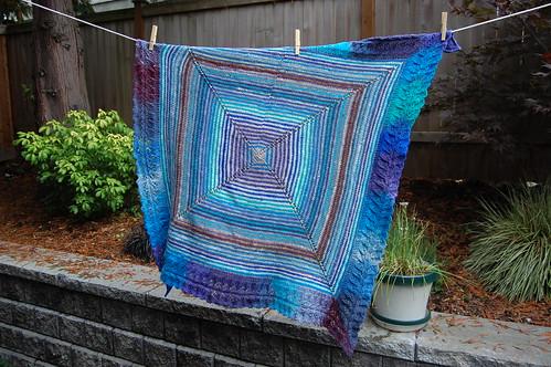 Noro Stripe Baby Blanket