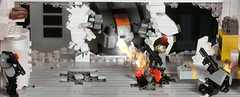 """Hello, little guy! It's the sweetie man coming!"" (Mechanekton) Tags: window blood lego military gore scifi mecha m"