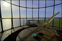 Take a seat and relax...this is Sunday! (Alexandre Moreau | Photography) Tags: uk england panorama lighthouse seascape relax sunbath devon phare lundy hdr secretplace deskchair coasta bristolchannel ultrawideangle lundyisland oldlighthouse isleoflundy mysticplace tokina1116mm