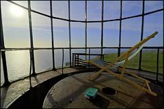 Take a seat and relax...this is Sunday! (Alexandre Moreau | Photography) Tags: uk england panorama lighthouse seascape relax sunbath devon phare lundy hdr secretplace deskchair coasta bristolchannel ultrawideangle lundyisland oldlighthouse isleoflundy mysticplace tokina1116mm