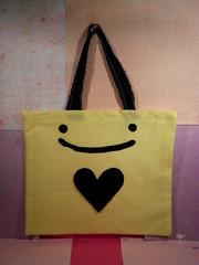 Mr.Face Bag (Crazy Craft) Tags: cute love yellow bag heart good kawaii easy aronzo patterndesign mrface
