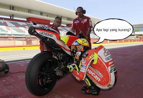 Valentino Rossi dengan jentera Ducati