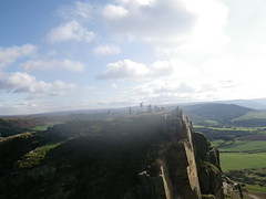 ROSEBERRY TOPPING, CLEVELAND. UK fingerprint attracted condensation!(214)