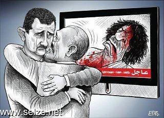 كاريكاتير مقتل القذافي