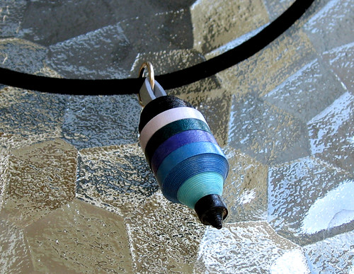 Striped buoy paper pendant