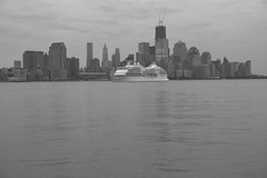 Regent Cruise Ship Seven Seas Navagator On The Hudson River (pmarella) Tags: bw pmarella hudsonriver lowermanhattan sigma1770mm riverviewpkproductions icoverthewaterfront myeyeshaveseenthis oneworldtradecenterakafreedomtower regentcruiseshiponthehudsonriver sevenseasnavagator