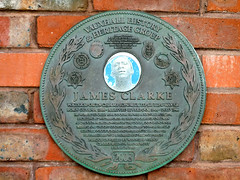 Photo of James Clarke bronze plaque
