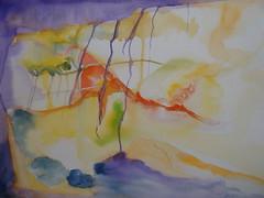 Abstract, by Vânia (Dona Minúcia) Tags: abstract art watercolor painting paper study abstrato aquarela